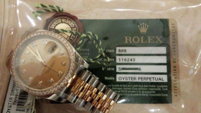 ロレックス デイトジャスト 116243G 買取いたしました