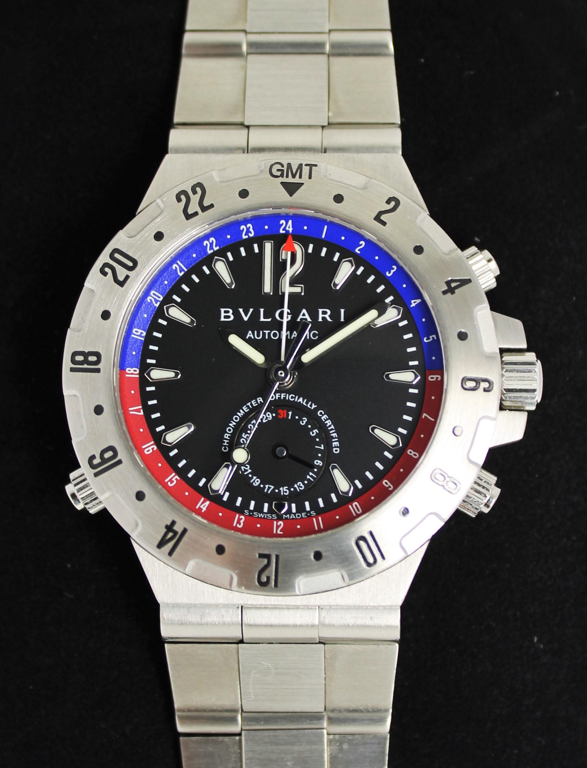 ブルガリ ディアゴノ GMT フライバッククロノ GMT40 買取致しました