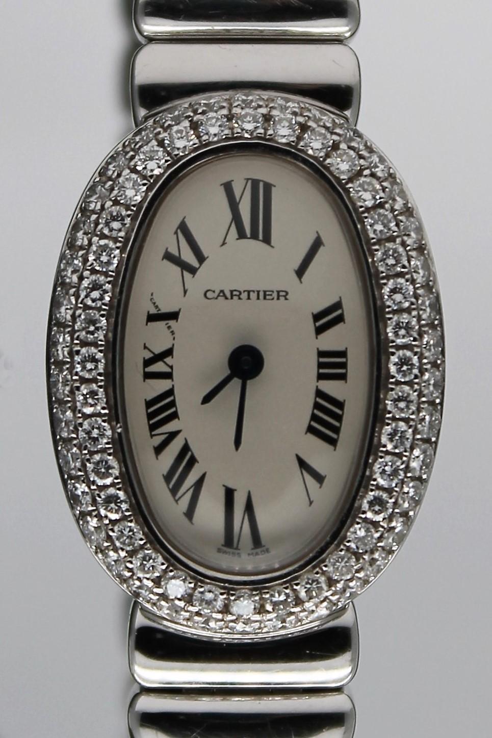 カルティエ ミニベニュワール ダイヤモンドベゼル 買取いたしました