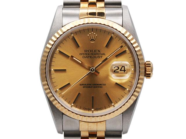 premium selection d435e 76474 ロレックス デイトジャスト 16233 売却|時計買取.bizの宅配買取 ...