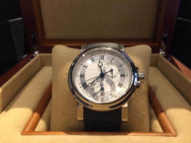 12月27日、群馬県のお客様より、ブレゲ マリーン GMT 5857ST/12/5ZU を買取いたしました