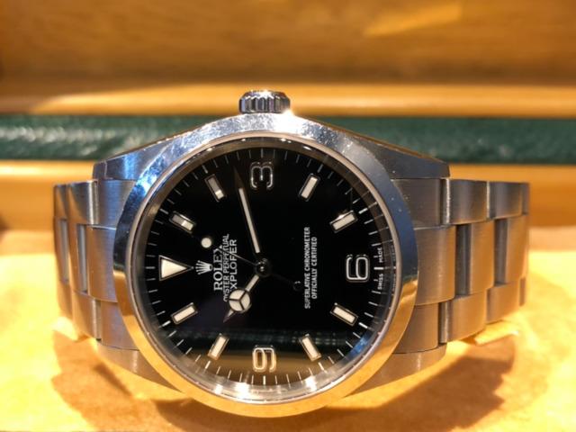 ロレックス エクスプローラーI 114270を東京都のお客様より買取いたしました