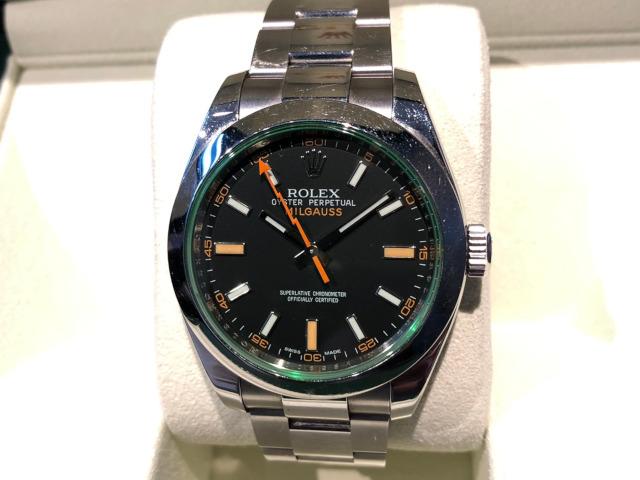 ロレックス ミルガウス 116400GV 徳島県のお客様より買取いたしました