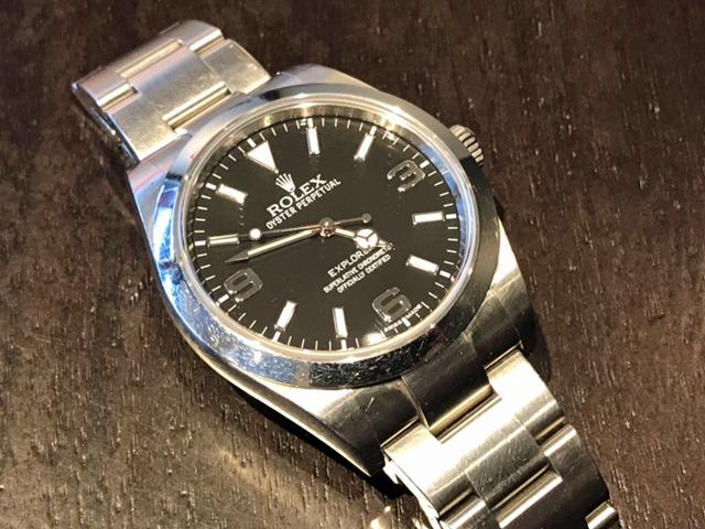 ロレックス エクスプローラーI 214270を新潟県のお客様より買取いたしました