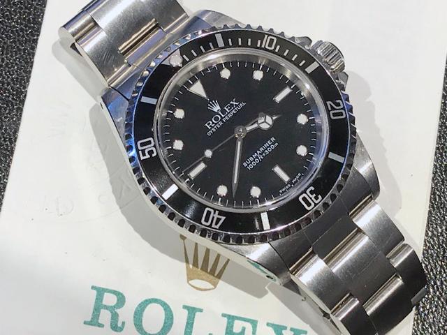 ロレックス サブマリーナー 14060を千葉県のお客様より買取いたしました