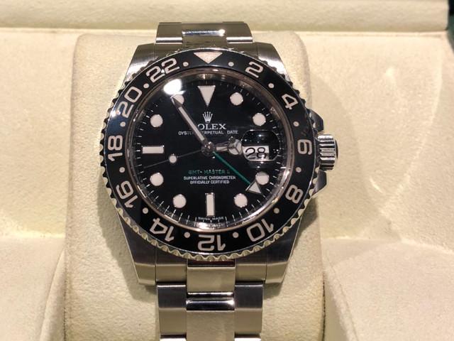 ロレックス GMTマスターII 116710LNを東京都のお客様より買取いたしました