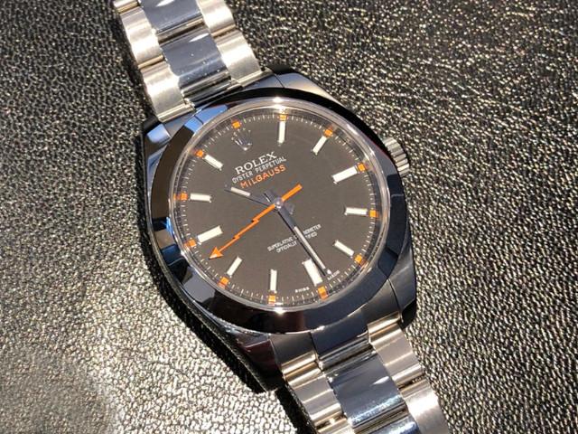ロレックス ミルガウス 116400を神奈川県のお客様より買取いたしました