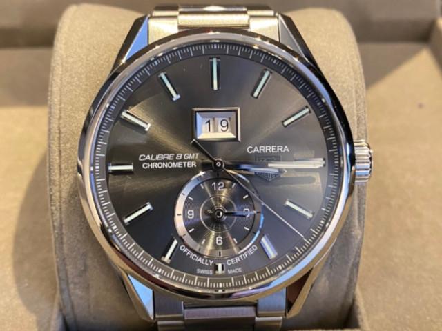 タグホイヤー カレラ グランドデイト GMT WAR5012.BA0723を東京都のお客様より買取いたしました