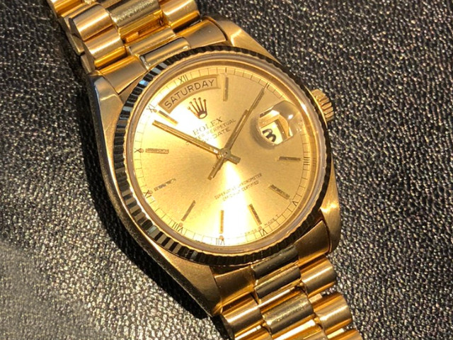 ロレックス デイデイト 18038を東京都のお客様より買取いたしました