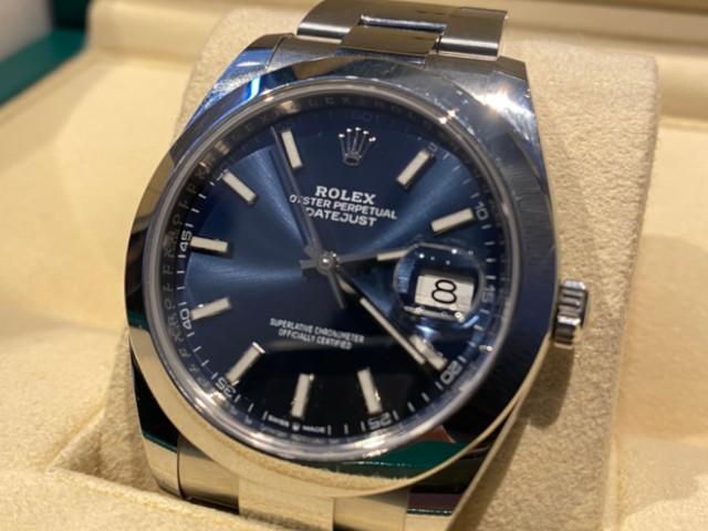 ロレックス デイトジャスト 126300を東京都のお客様より買取いたしました