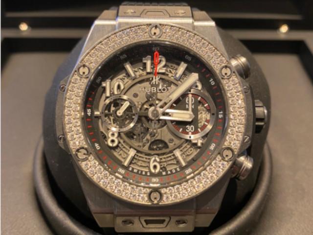 ウブロ ビッグ・バン ウニコ チタニウム ダイヤモンド 411.NX.1170.RX.1104を東京都のお客様より買取いたしました